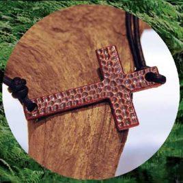Love Leather Wraps- Cross Bracelet