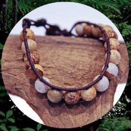 Love Leather Wraps- Jasper Stone Bracelet