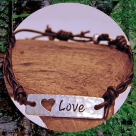 Love leather Wraps- Love Bracelet