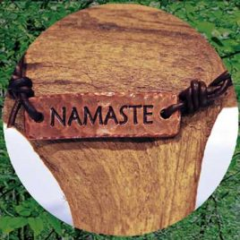 Love Leather Wraps- Namaste Bracelet