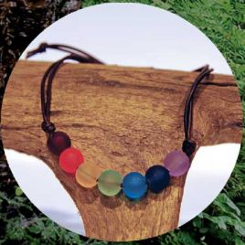 Love Leather Wraps- Rainbow Bracelet