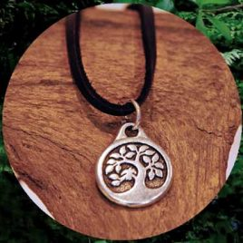 Love Leather Wraps- Tree Of Life Necklace